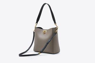 900262 Khaki Contrast Everyday Top Handle Handbag
