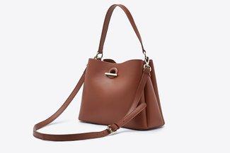 900299 Mud Relaxed Cross-Body Handbag