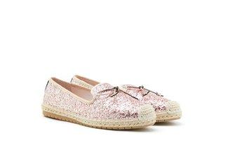 778-1 Pink Starlight Bow Glitter Espadrilles