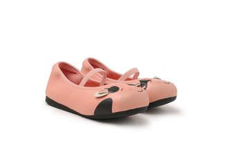 """BB7601-7 Pink The """"Baby Moo"""" Flats"""
