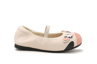 "BB7601-7 Beige The ""Baby Moo"" Flats"