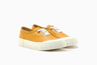 1963-1 Yellow Contrasting Slip-On Platform Sneakers