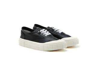 1963-1 Black Contrasting Slip-On Platform Sneakers