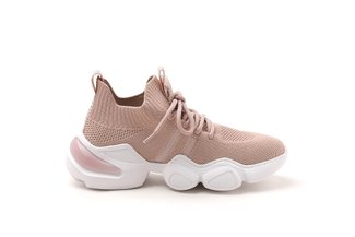 623-1A Pink Chunky Athleisure Mesh Sneaker