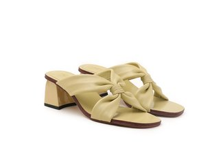LT333-37 Lemon Front Twisted Slide Heels