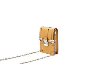 88192 Khaki Push Lock Crossbody Bag