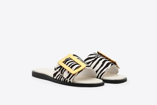 A81-2017 White Buckle Sandals 2