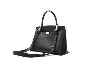 6261 Black Structural Vintage Handbag