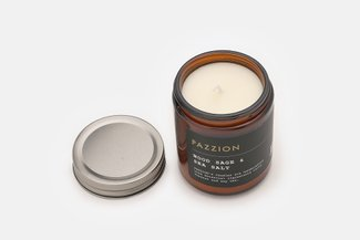 PAZZION Wood Sage & Sea Salt Scented Candle