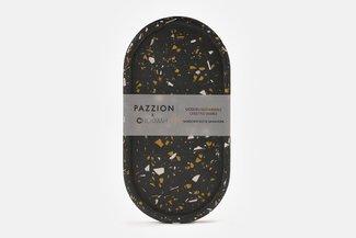 PAZZION x Chokmah Black Terrazzo Pill Shaped Tray