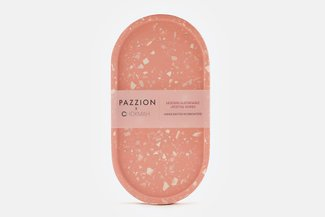 PAZZION x Chokmah Pink Terrazzo Pill Shaped Tray