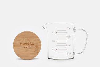 PAZZION Graduated Beaker Mug with Lid