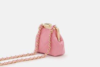 11676 Pink Quilted Vintage Mini Slingbag