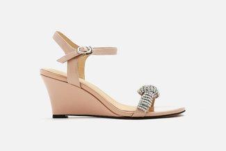 5921-01 Pink Roll Diamante-Embellished Sandals