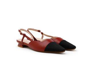 6519-3 Wine Dual Textured Slingback Heels