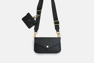 11832 Black Utility Pochette Crossbody Bag