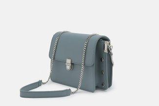 88180-1 Blue Minimalist Chain Strap Crossbody Mini Bag