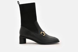 988-3 Black Ankle Flyknit Horsebit Chelsea Boots
